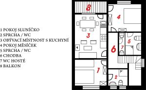 Plánek Apartmentu